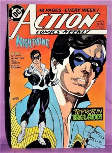 Nightwing and Speedy ACTION COMICS WEEKLY #627 Black Canary (DC, 1988)!
