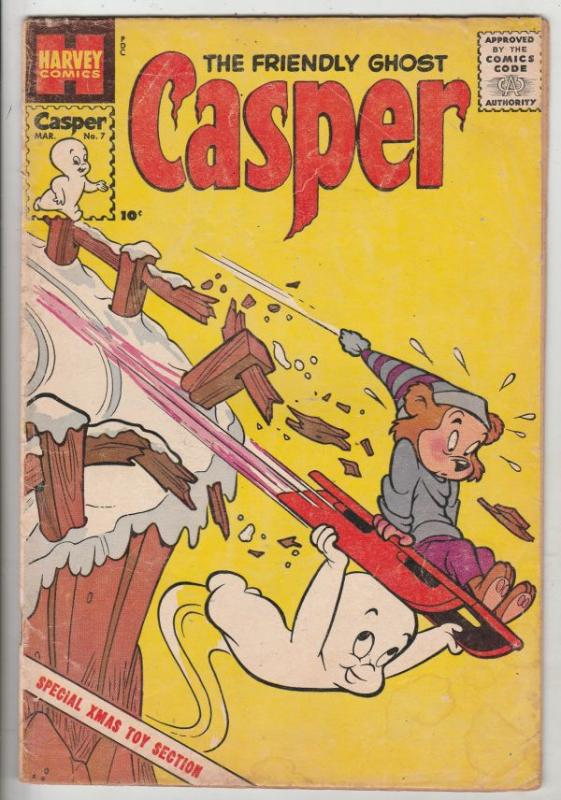 Casper, the Friendly Ghost Casper #7 (Mar-59) VG/FN Mid-Grade Casper, Spooky