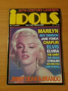 IDOLS The Cult Magazine #13 Marilyn Monroe ~ VERY FINE VF ~ 1989 Century Legends