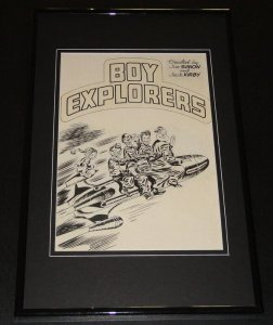 Boy Explorers Framed 11x17 Photo Display Official Repro Jack Kirby