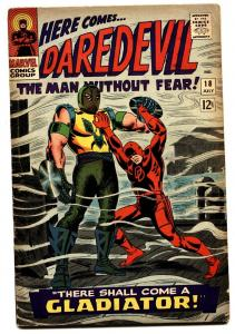 DAREDEVIL #18 comic book 1966 MARVEL COMIC- ORIGIN GLADIATOR