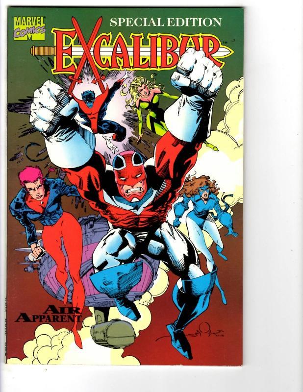3 Excalibur Marvel Comics Air Apparent Mojo Mayhem vs. X-Men Graphic Novels BH27
