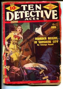Ten Detective Aces-Pulps-11/1944-Kim Lewis-Bill Morgan
