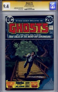 GHOSTS #15 CGC 9.4 SS NICK CARDY (only s/s copy on census)