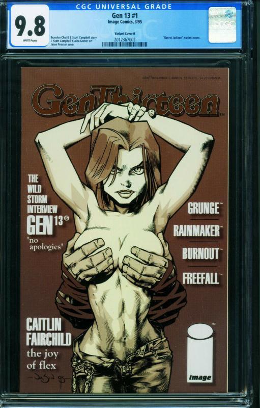 Gen 13 #1 1995 CGC 9.8-Variant H-Jason Pearson cover-2012367002
