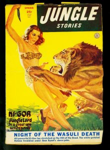 Jungle Stories Spring 1952- Spicy cover- Fiction House Ki-Gor- FINE