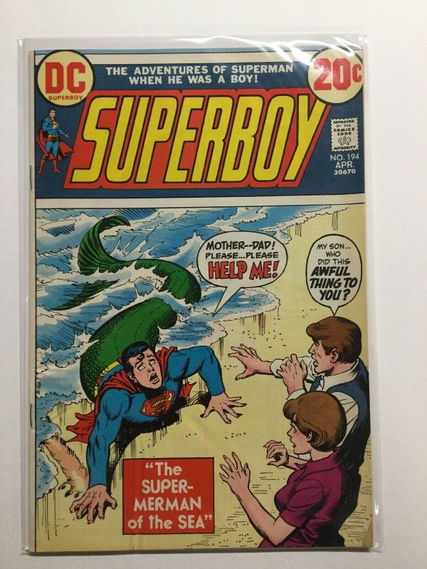 Superboy 194 Very Good Vg 4.0 Water Damage Dc Comics