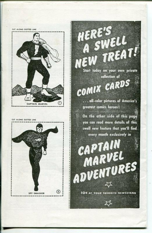 Captain Marvel Adventure Fanzine-1970's-photo copy edition-Comix cards-VF