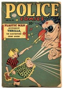 Police Comics #100 1950- PLASTIC MAN- Spirit- Candy G