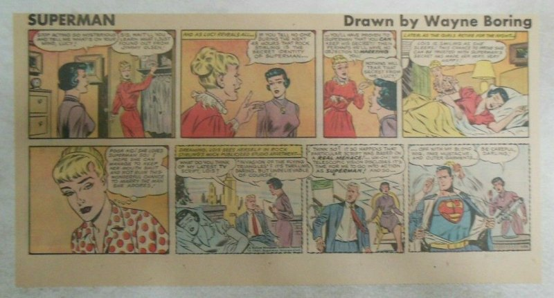 Superman Sunday Page #1139 by Wayne Boring from 8/13/1961 Size ~7.5 x 15 inches