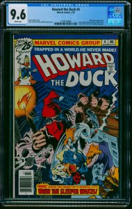 Howard the Duck #4 CGC NM+ 9.6 White Pages