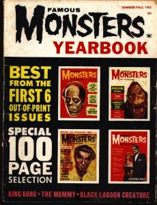 SIGNED FAMOUS MONSTERS of Filmland,1962 #1,Yearbook,Forrest J Ackerman