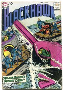 BLACKHAWK #128 1958 DC KILLER SHARK SCI FI WAR COMMIES G
