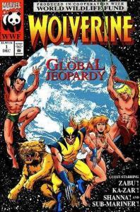Wolverine (1988 series) Global Jeopardy #1, NM + (Stock photo)
