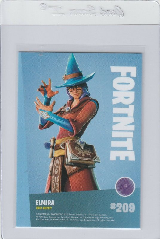 Fortnite Elmira 209 Epic Outfit Panini 2019 trading card series 1