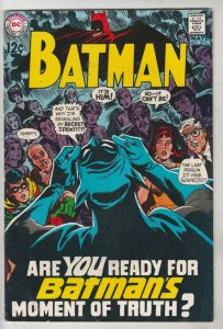 Batman #211 (May-69) FN/VF+ High-Grade Batman