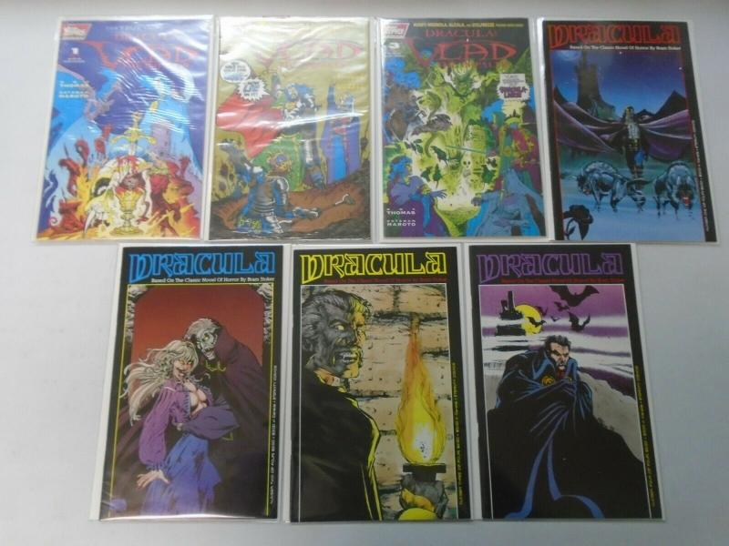 Dracula lot 7 different issues 8.0/VF (80s + 90s)
