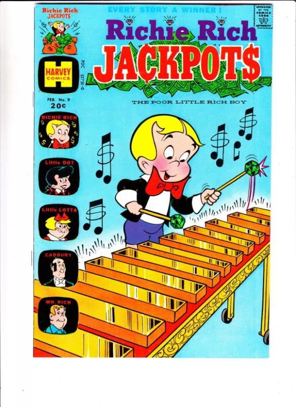 Richie Rich Jackpots #9 (Feb-74) NM- High-Grade Richie Rich