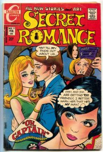 Secret Romance #17 1972- DOUBLE COVER- Charlton Comics VG