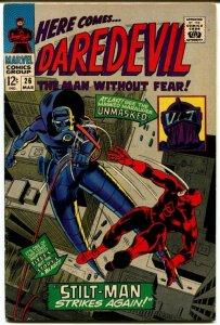 Daredevil #26 (7.0) Stilt-Man Strikes again! Silver Age Marvel ID11L