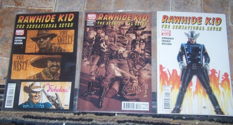 Rawhide Kid #1 2 3 THE SENSATIONAL SEVEN  (August 2010, Marvel)