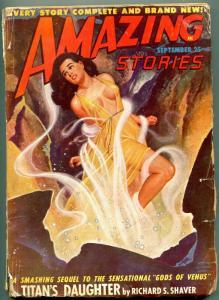 Amazing Stories Pulp September 1948- Titan's Daughter- GGA cover