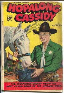 Hopalong Cassidy #29 1949-William S Boyd & Topper cover VG-