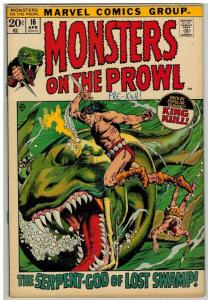 MONSTERS ON THE PROWL 16 VG-F April 1972
