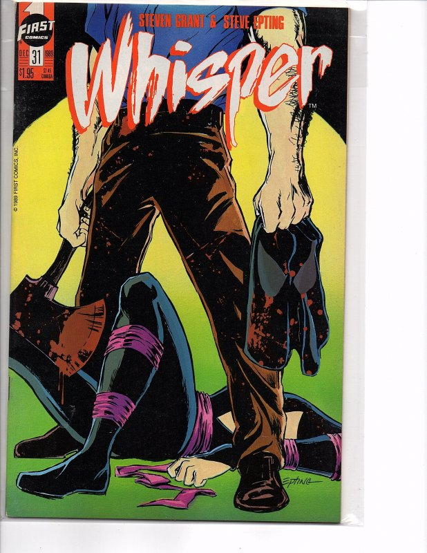 First Comics Whisper #31 & 33 NM Steven Grant Steve Epting
