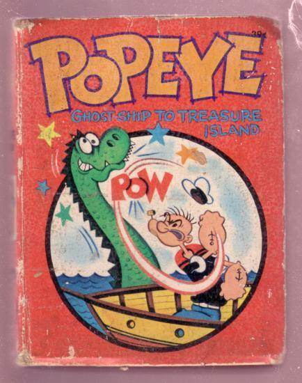 POPEYE, GHOST SHIP TO TREASURE ISLAND, 1967, #2008 BLB G/VG
