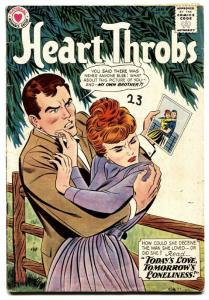 HEART THROBS #69 1960 DC-ROMANCE-CHEATING WITH HIS BROTHER!