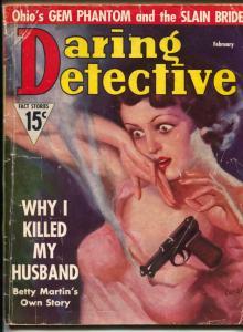 Daring Detective Magazine February 1937- Betty Martin VG-