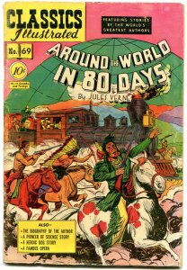 Classics Illustrated #69 HRN 70- Around the World in 80 days EGYPTIAN COLLECTION
