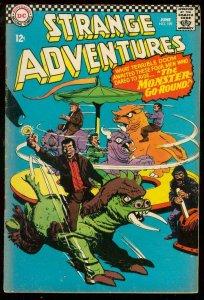 STRANGE ADVENTURES #189 1966-DC COMICS MERRY-GO-ROUND VG