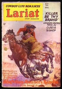 LARIAT-GOOD GIRL ART-COWBOYS-MAY 1946 FICTION HOUSE FN