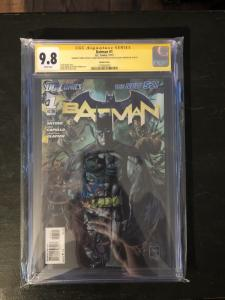 Batman New 52 1:25 Variant - CGC 9.8 Signed by Syner, Capullo & Glapion