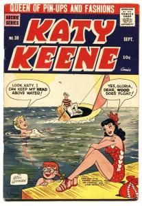 Katy Keene #30 Swimsuit cover-Archie-Bill Woggon-pin-ups FN+
