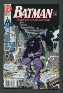 Batman #450 / 9.6 NM+  (Joker / Newsstand)  July 1990