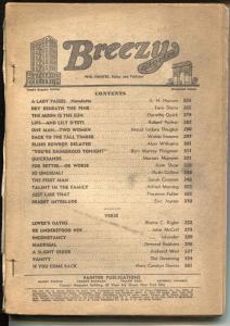 Breezy Stories 4/1940-Painter-spicy pulp fiction & interior art-P