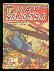 SKY RAIDERS PULP-12/1939-CONDEMNED SQUADRON-RARE AIRWAR G