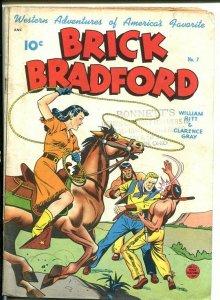 BRICK BRADFORD #7-ALEX SCHOMBURG COVER-western VG+