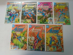 Action Comics lot 21 different from #511-578 avg 6.0 FN (1980-86)