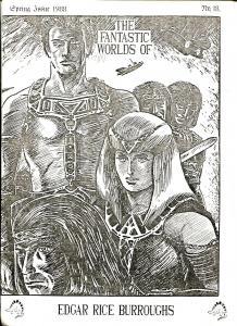 Fantastic Worlds of Edgar Rice Burroughs #18 1985-British fanzine-Cawthorne-FN