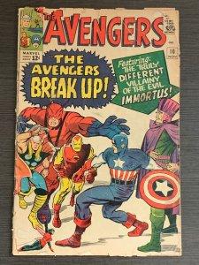 Avengers #10 (1964). 1st app Immortus; Hercules app. FR/GD.