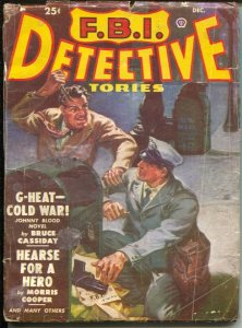 F.B.I. Detective Stories 12/1950-unusual Norman Saunders cover-Johnny Blood a...