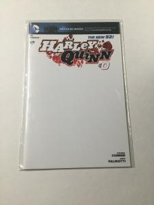 Harley Quinn 0 Nm Near Mint Blank Variant DC Comics