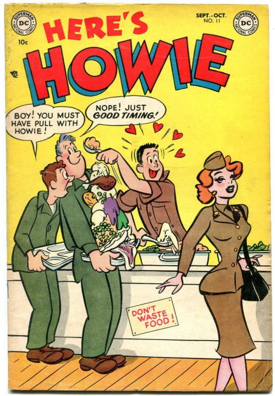 Here's Howie #11 1953- DC Golden Age Humor- Hot Dame on cover FN