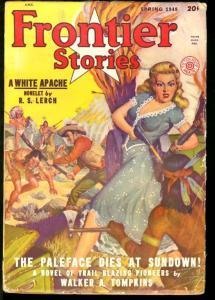FRONTIER STORIES 1948 SPRING-WHITE APACHE/GGA COVER VG