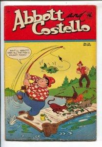 Abbott and Costello #24 1954-St John-Fishing cover-movie funny men-VG/FN