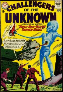 CHALLENGERS OF THE UNKNOWN #30-GREAT COVER-DC VG